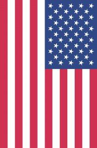 Printable American flag.