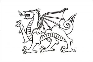 Welsh flag to colour in.
