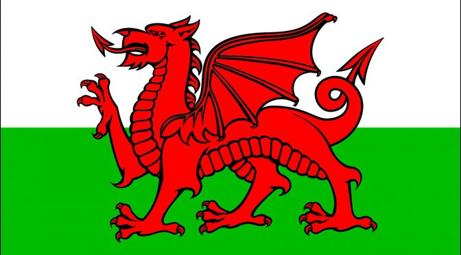 Llyn baner Cymru - Y Ddraig Goch. A printable picture of the red dragon Welsh flag.