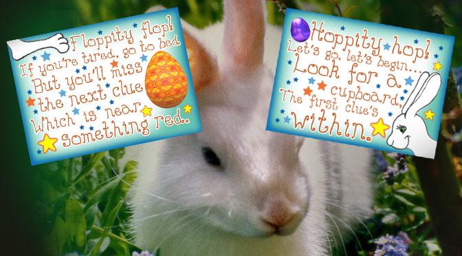Easter Bunny Indoor Treasure Hunt