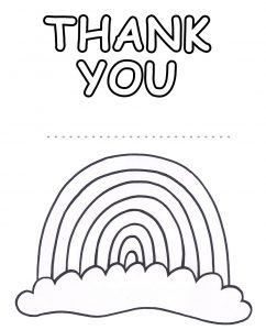 A rainbow poster to colour in to say thank you to whoever you like.