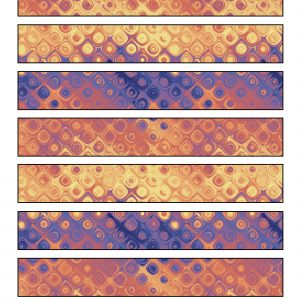 Printable paper purple, rust and cream patterned chain strips