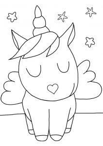 A picture of a really cute unicorn to colour in