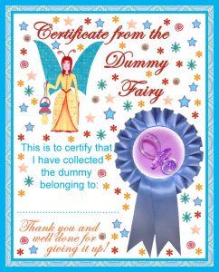 Free printable Dummy Fairy certificate for children