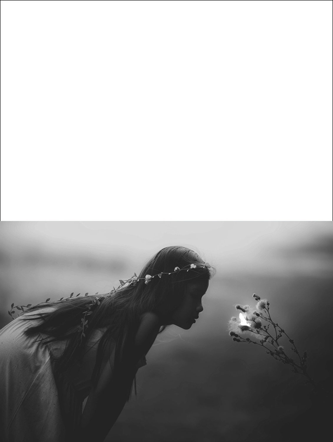 Printable greetings card picturing a lirrle girl finding a fairy in a field. Particularly popular during the summer months.
