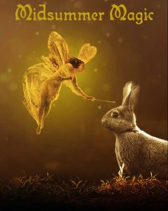 A fairy poster to help decorate for Midsummer celebrations