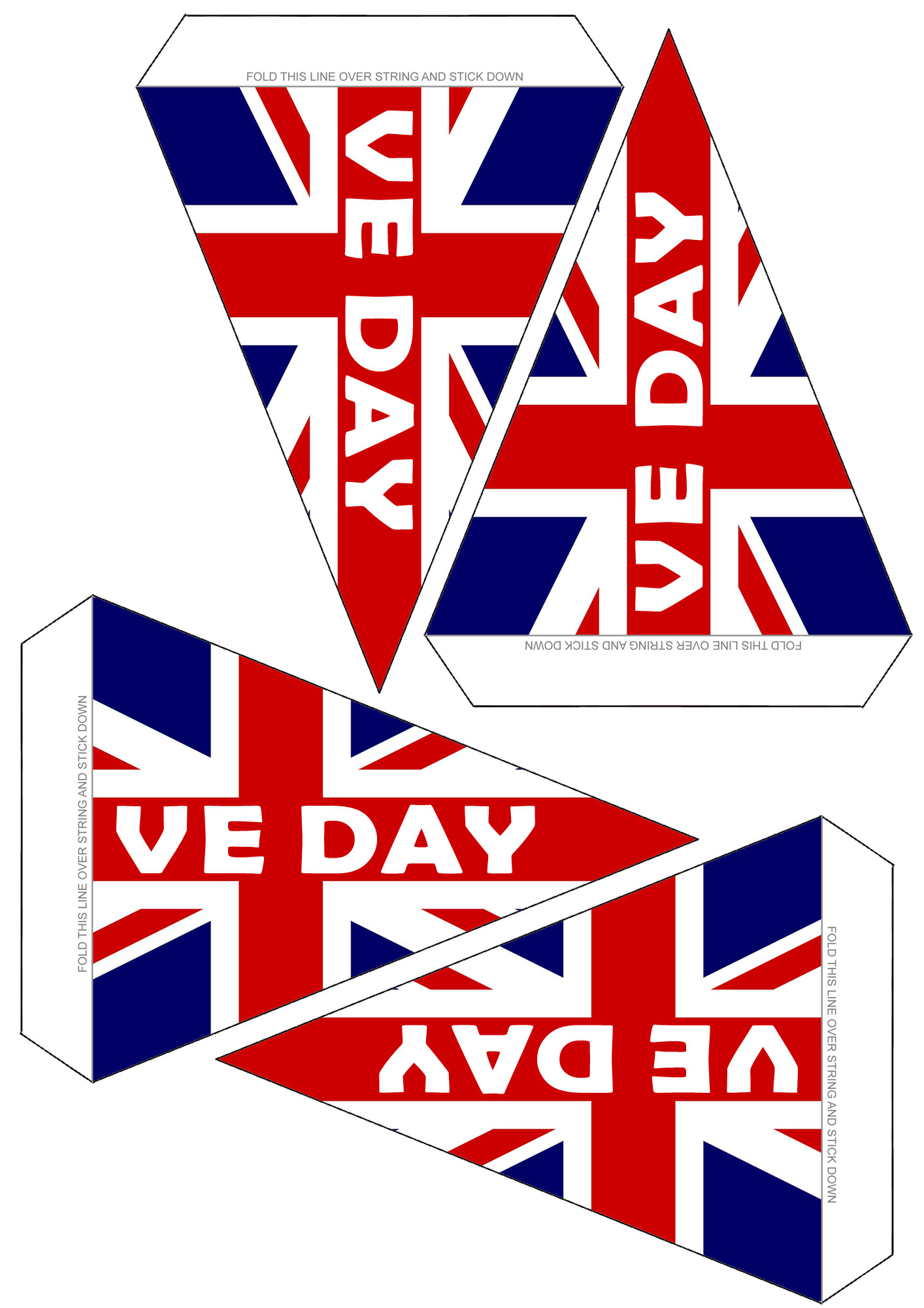 Printable sheet of VE Day Bunting