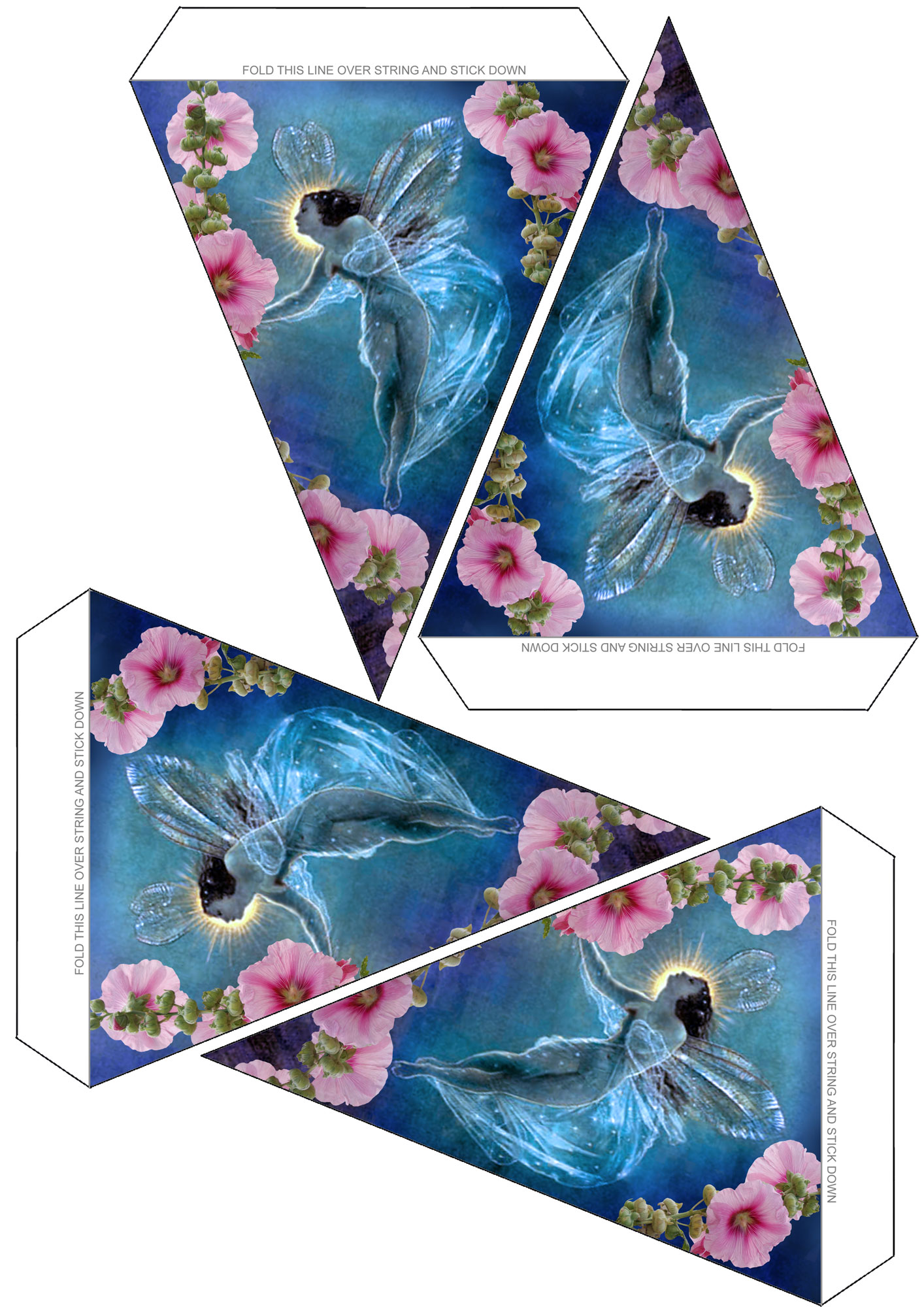Sheet of beautiful summer fairy bunting to print for your child's party.