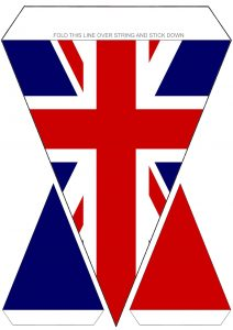 Printable Union Jack flag bunting for VE Day amd other British celebrations