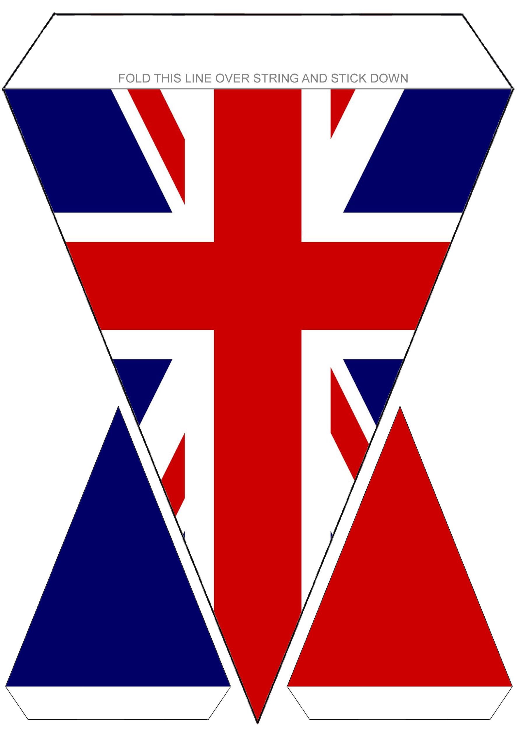 Printable Union Jack flag bunting for VE Day amd other British celebrations