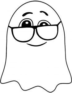 This ghost wearing glasses is fun to print out and decorate with at Halloween