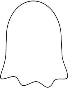 Blank ghost template for making Halloween decorations