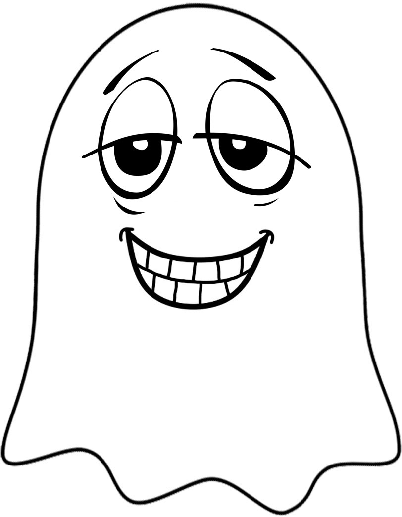 A dopy ghost to print and decorate for Halloween