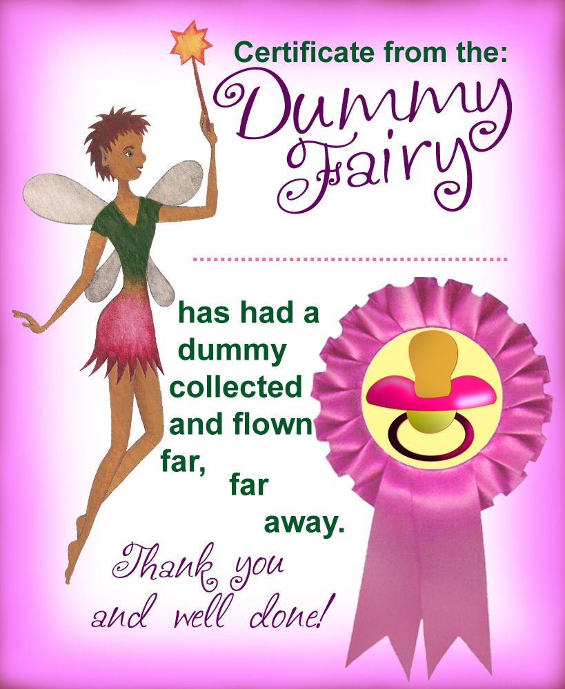Pink Certificate From The Dummy Fairy Rooftop Post Printables