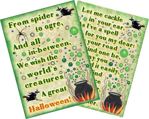 Decorative witchy wall spells to print and hang on your wall.