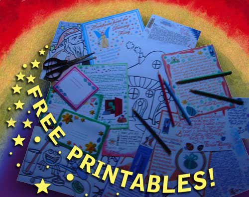 Free printable notes, letters, certificates from Fairyland