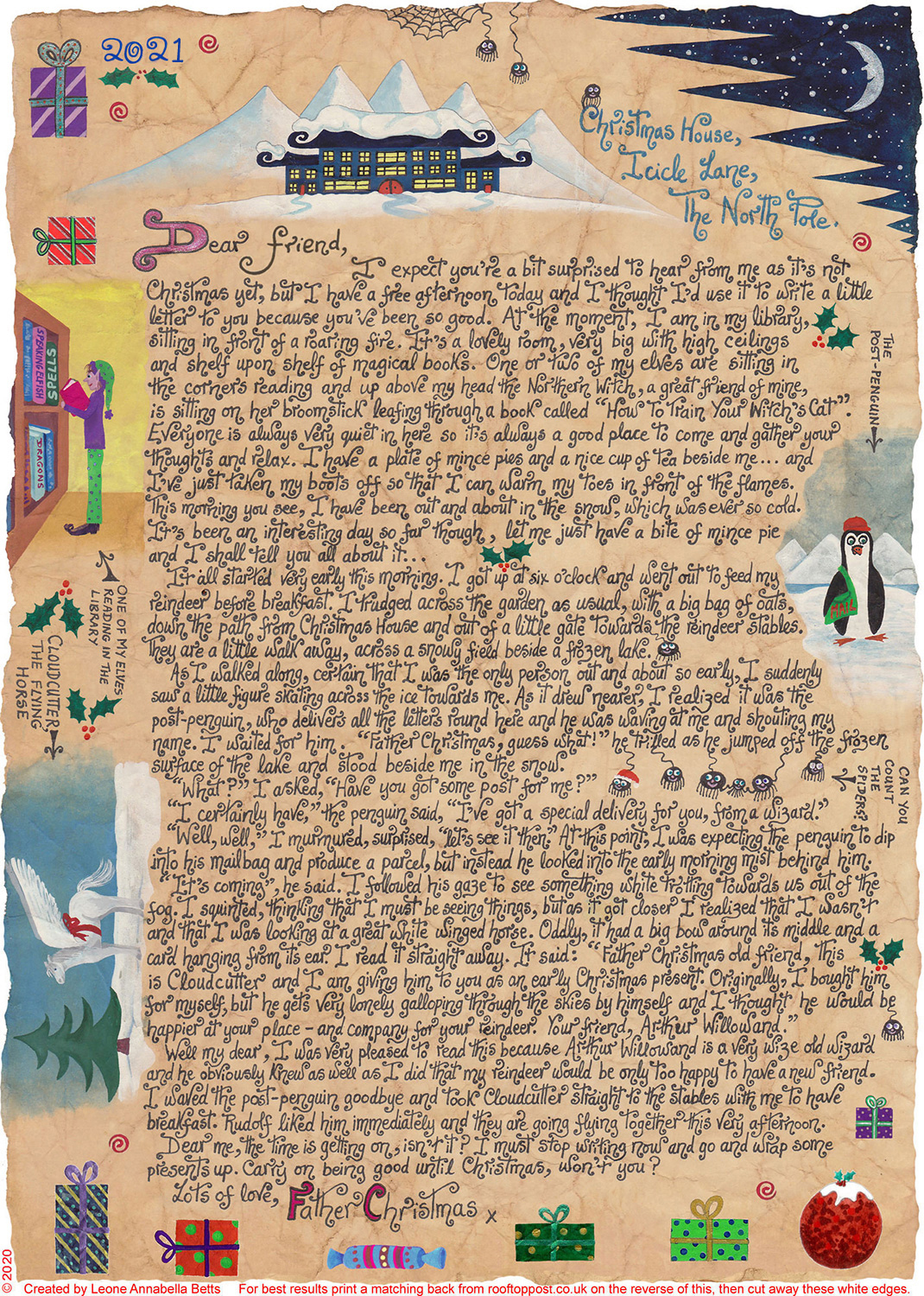 Father Christmas Letter About Why the Reindeer Are All in His Kitchen!