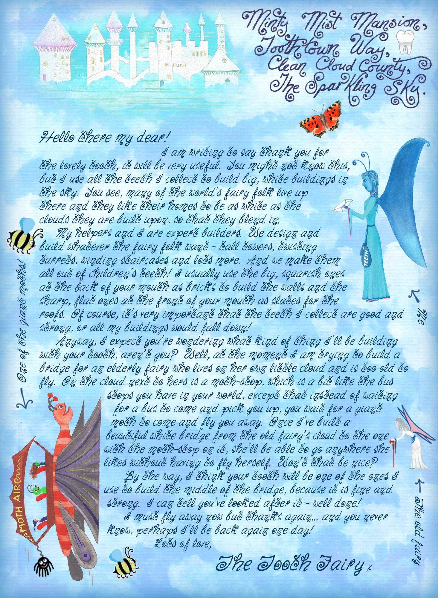 Print this free Tooth Fairy letter for your child.