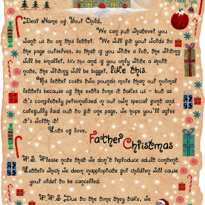 Write your own Father Christmas letter!
