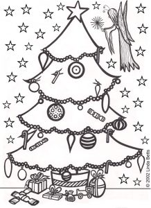 Christmas fairy colouring page