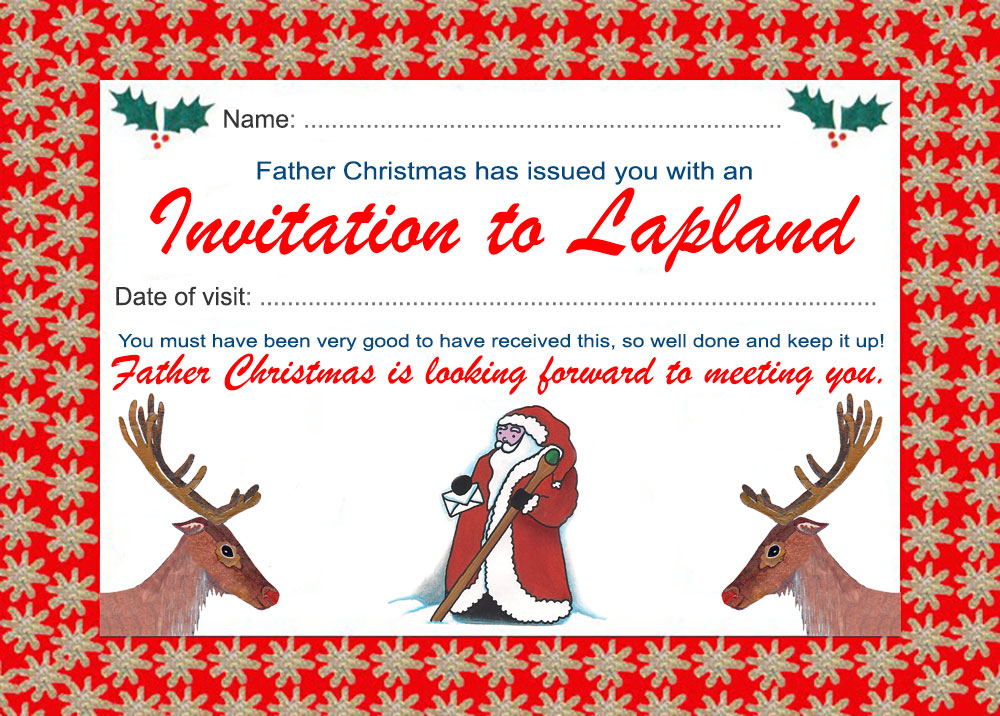 invitation to lapland from father christmas