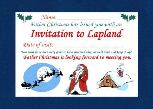 An invitation to visit Father Christmas in Lapland