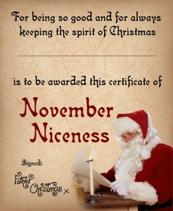 Certificate of November Niceness