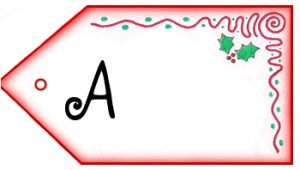 Father Christmas Letter Tag: A