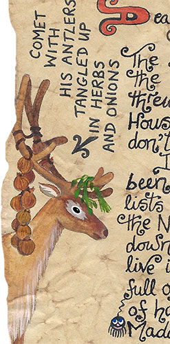 A drawing of Comet the reindeer by Father Christmas in one of his letters